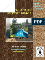 Sustainability Report 2014-15 of Coal India Limited 10082015