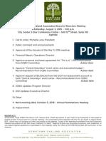 DOA Board Agenda August 3, 2016