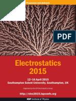 Electrostatics 2015 Abstract Book - DIGITAL COPY