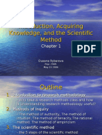Introduction, Inquiry, And the Scientific Method