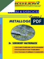 Le Livre de Métalogénie DR. SOROKOBY