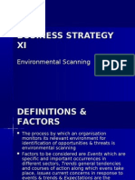 Business Strategy Xi Env Scan