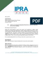 IPRA Response Advisory Regarding Use-Of-Force Reporting