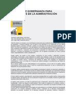 Una Guía de Gobernanza Para Resultados en La Administración Pública