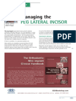 Managing the Peg Lateral Incisor