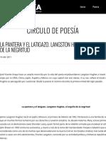 La Pantera y El Latigazo. Langston Hughes