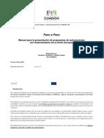 PASO a PASO Manual Para Formuladores de Subvenciones Mayo 2013