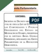 Iniciativa de Ley de Consulta a las Comunidades Indígenas y Pueblos Originarios