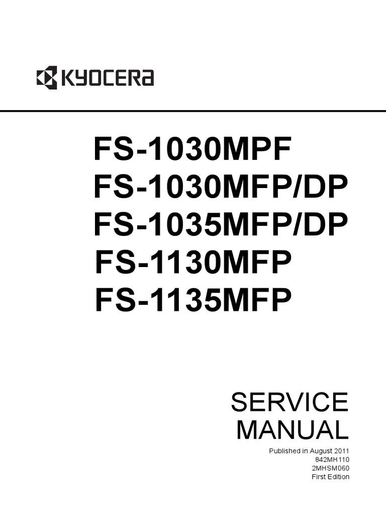 kyocera fs 1030mpf fs 1030mfp dp fs 1035mfp dp fs 1130mfp fs 1135mfp multifunction printer service repair manual