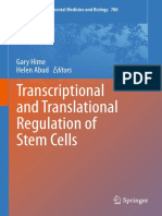 Transcriptional and Translational Regulation of Stem Cells Book