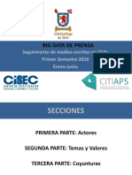 Informe 1er Semestre 2016 Big Data