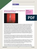 Sobre La Exclusion de Las Mujeres en Los Estudios Sociales