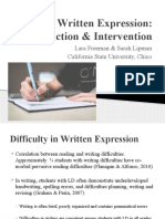 writing interventions