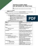 INSTRUCCIONES PARA ELABORAR INFORMES DE PRÁCTICAS.doc