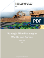 Strategic Mine Planning SurpacWhittle v20