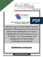 Resolucion 22 2016 Sunedu CD Villarreal