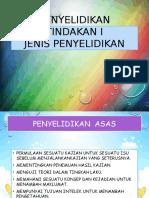 JENIS-PENYELIDIKAN