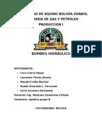 INFORME BOMBEO HIDRAULICO