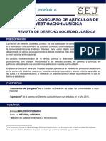 """Bases del Concurso de artículos de Investigación Jurídica """"Sociedad Jurídica"""""""