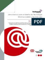 Libro Blanco Diseño -De Tecnologia Movil Accesible ONCE Techonosite