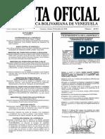 Gaceta Oficial Número 40.955 de la República de Venezuela, 29 de julio de 2016