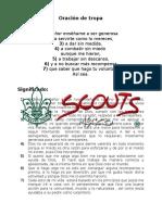 Oración de tropa scouts