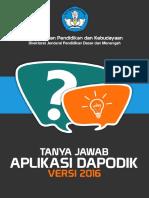 Faq Aplikasi Dapodik Versi 2016