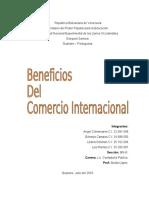Beneficios Del Comercio Internacional.