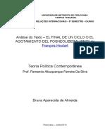 """El Final de Un Ciclo o El Agotamiento Del Posneoliberalismo"""" de François Houtart"""