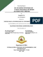 A Study on Effectiveness of Distribution Channels of Bindu Branded soft drinks