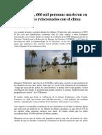 3. Muertos y Víctimas Del Cambio Climático Desde 1995
