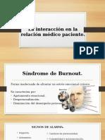 La Interacción en La Relación Médico Paciente