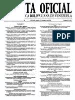 Sumario Gaceta Oficial 39.431
