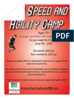 Teen Speed Agility Camp Flier