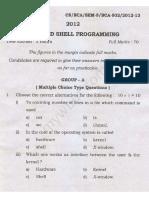BCA502 Unix and Shell Programming2012