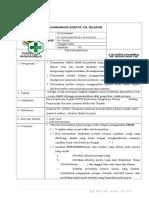 35 UGD SOP Komunikasi Efektif via Telepon Puskesmas Wongsorejo