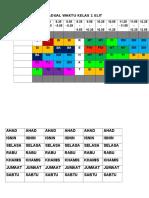 Jadual Waktu Kelas 1 Elit