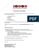 Intec Recruitment Advertisement Dec2013