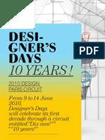 Designers Days Press Kit 2010
