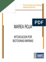 MAREA ROJA INTOXICACION POR BIOTOXINAS MARINAS