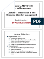 L1-Intro and Changing World of Management(1)