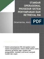 Standar Operasional Prosedr Sistem Penyimpanan Dan Retrieval