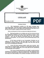 2015 Civil Law Bar Question.pdf