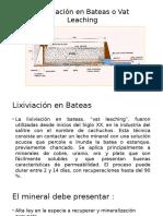 Lixiviación en Bateas o Vat Leaching