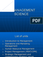Management Science UNIT I