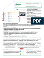 Google Spreadsheets Quick Reference Guide11