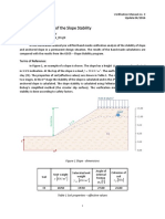 Verification Analysis of the Slope Stability