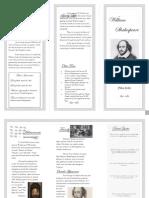 Brochure William Shakespeare2