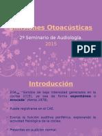 Seminario Emisiones Otoacústicas