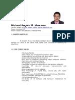 Michael Angelo Mendoza CV 300716